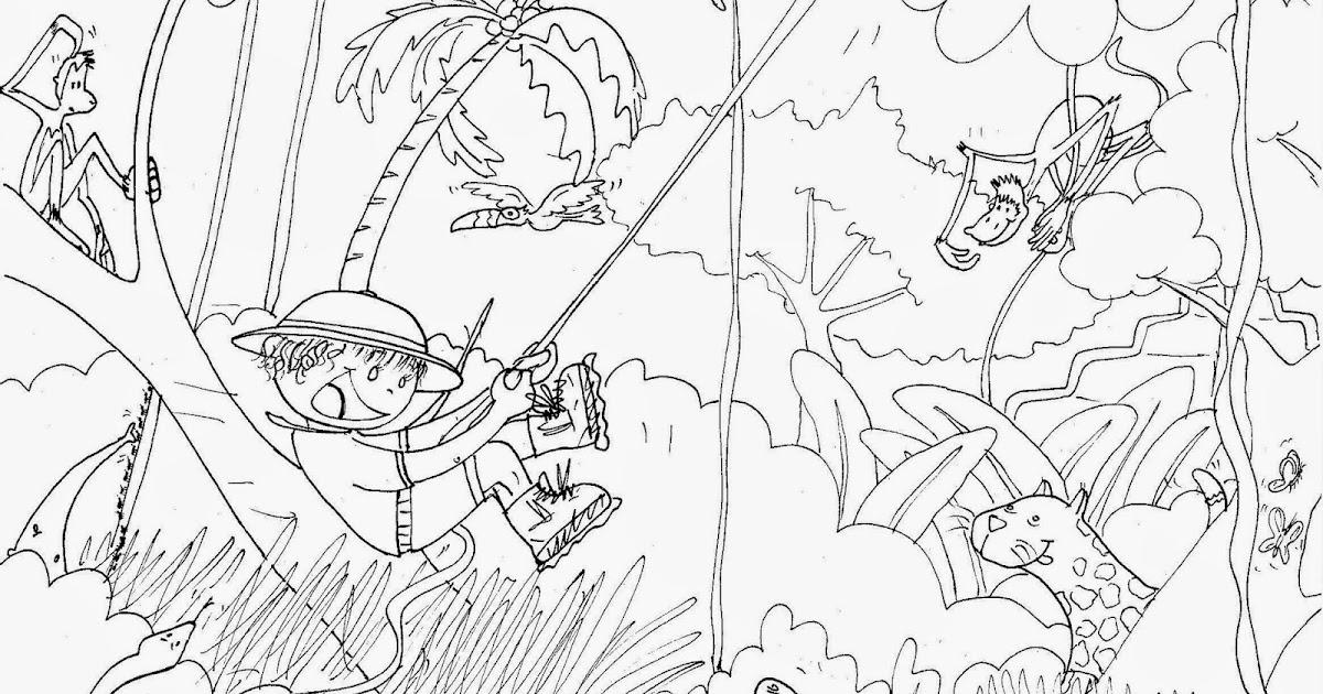 Fabuleux Daisydées: Coloriages, dessins sur le thème de la jungle UA76
