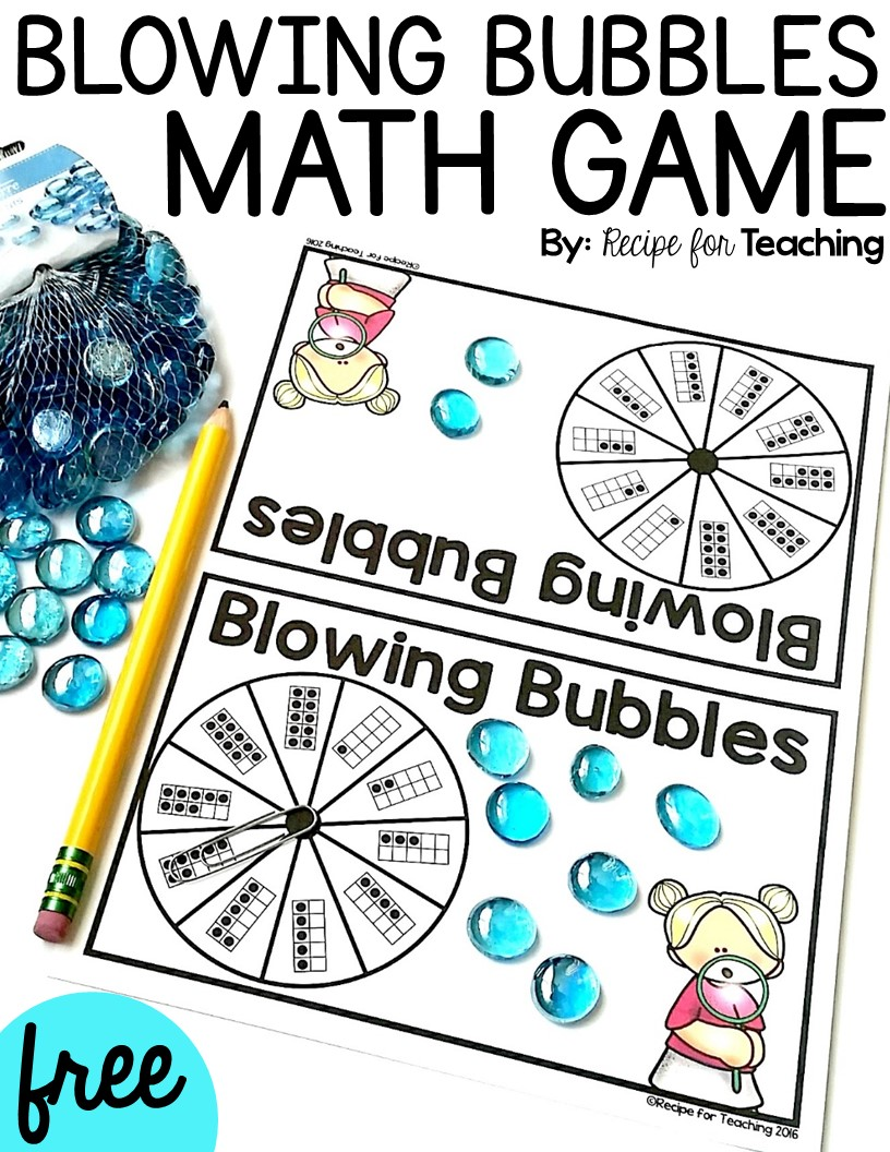 Blowing Bubbles Math Game