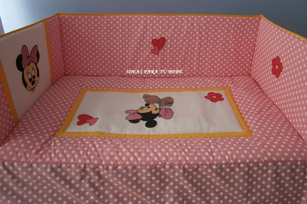 Ideas para tu bebe como decorar una cuna colecho con minnie for Como decorar una cuna