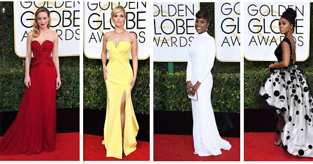 2017 Golden Globes Red Carpet Fashion