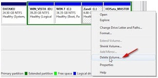 Cara menghapus partisi hardisk di windows 7