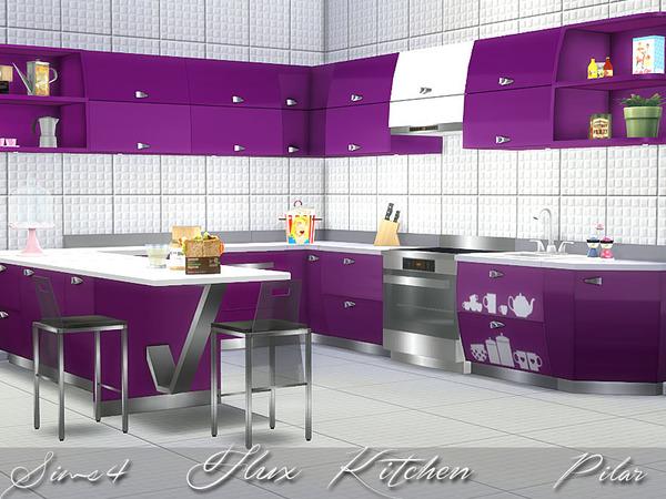 My sims 4 blog flux kitchen set by pilar for Kitchen set sims 4