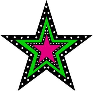 Free Printable Stars with Polka Dots.