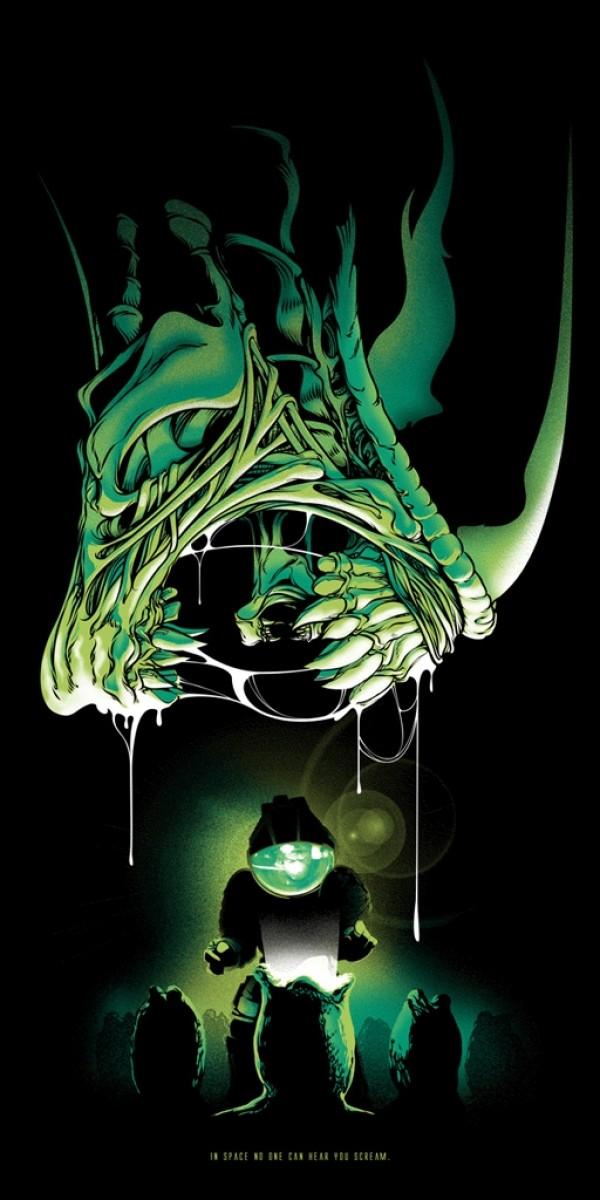 Cute Alien Wallpaper Iphone The Geeky Nerfherder Cool Art Xenomorph By Joshua Budich