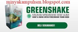 minuman diet green shake rp 168.000/box
