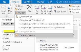 Cách cấu hình chặn hoặc xóa thư rác trong Outlook