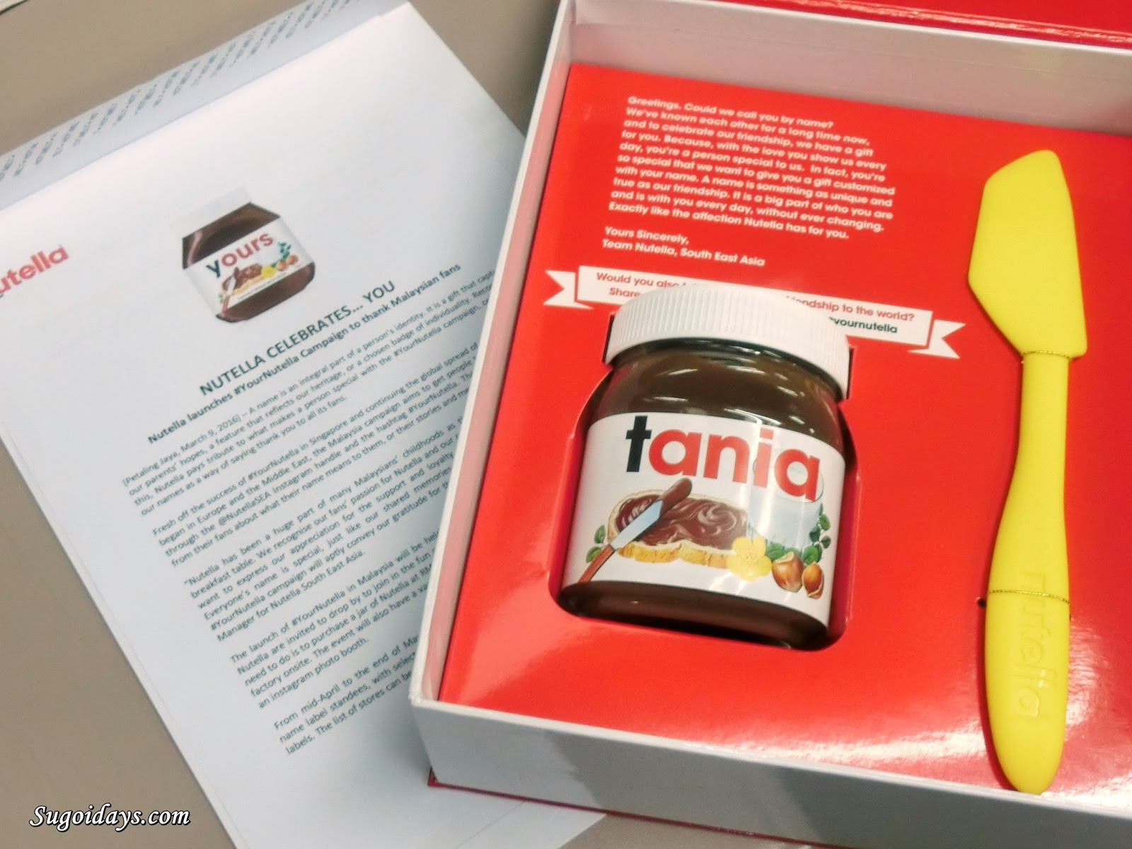 Sugoi Days: #YourNutella: Fancy Owning Your Own Customised