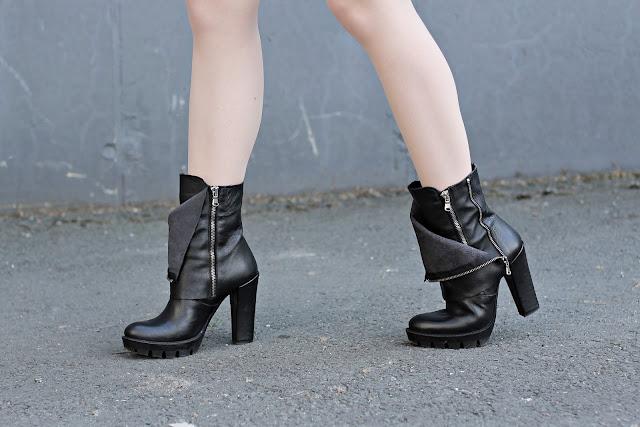 Versace heeled boots