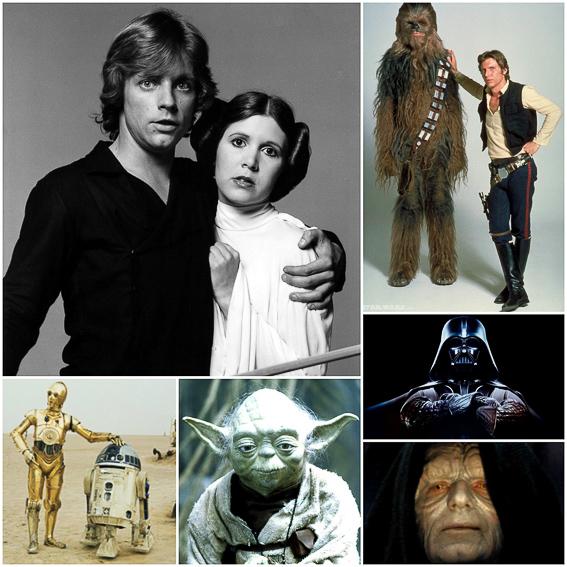 Personajes de Star Wars. La guerra de las galaxias