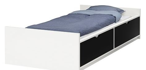 arredo a modo mio tutti i letti singoli di ikea. Black Bedroom Furniture Sets. Home Design Ideas