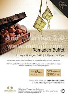 Cafe Para Para Grand Paragon Hotel, Johor Bahru