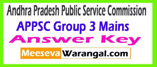 APPSC Group 3 Mains Answer Key 2017