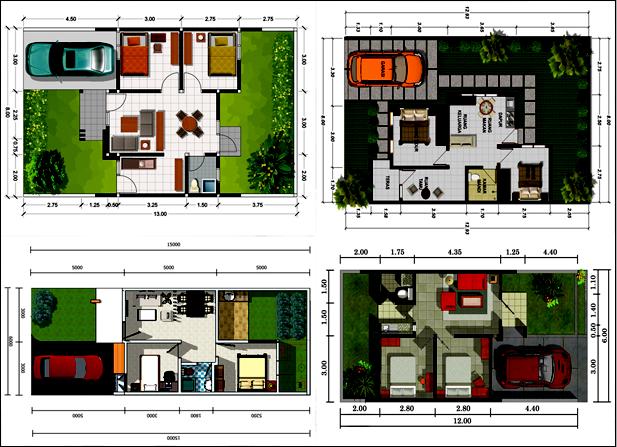 Denah Rumah Minimalis Terbaru Dengan Ukuran