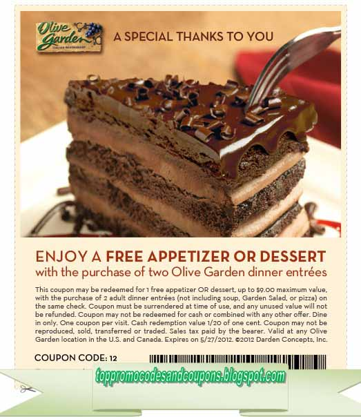 Free promo codes and coupons 2019 olive garden coupons - Olive garden coupons printable 2017 ...