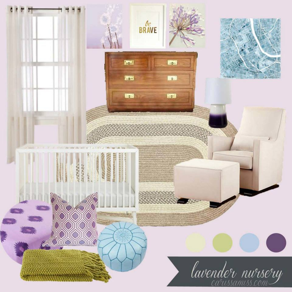 August Inspiration Board Challenge: A Lavender & Emerald Living Room ...