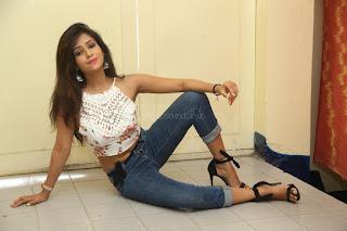 Deekshita Parvathi in a short crop top and Denim Jeans Spicy Pics Beautiful Actress Deekshita Parvathi January 2017 CelebxNext (164).JPG