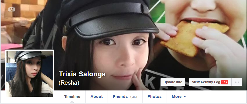 Trixia Salonga Facebook