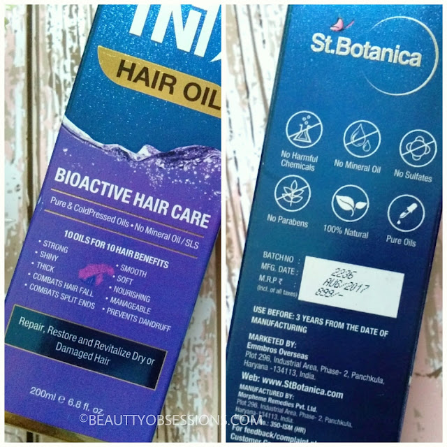 St. Botanica 10 in 1 Hair Oil - Review