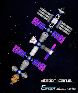 Station Icarus close up