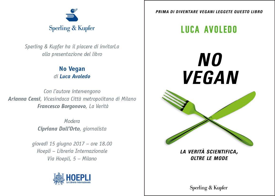 Il libro No Vegan di Luca Avoledo