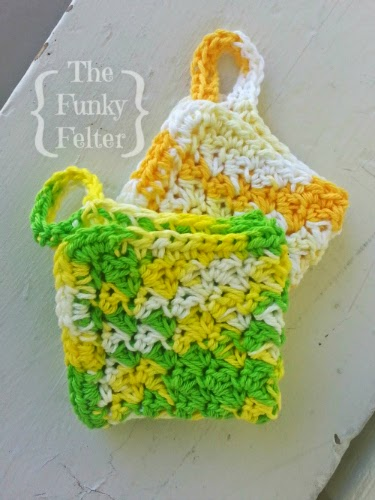 free dishcloth pattern for crochet by the funky felter