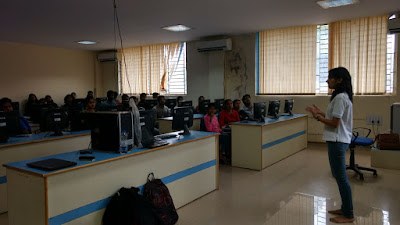FOSS Wave visits FOSS Camp: Kanika Murarka introduces git to students