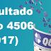 Resultado Quina - Concurso 4506 (14/10/17)