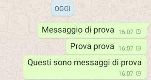 orologio messaggi