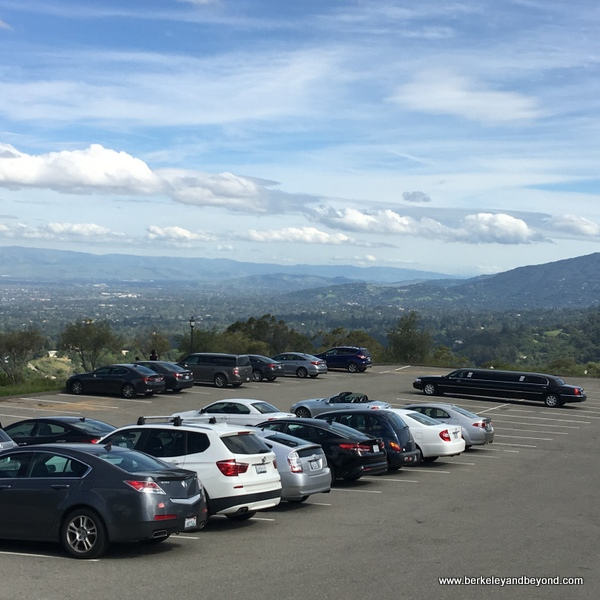 parking lot at The Mountain Winery in Saratoga, California