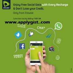 How to get Etisalat 1.8gb