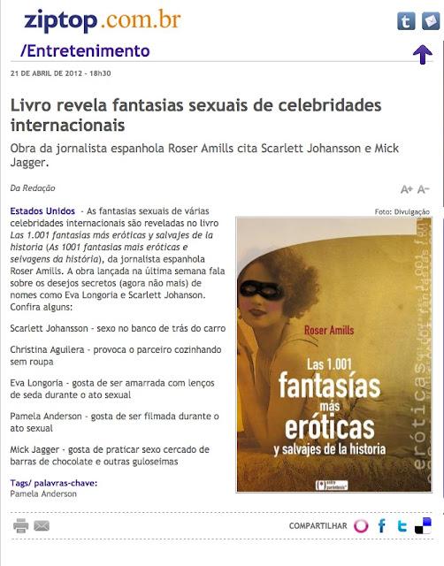 BRASIL | Livro revela fantasias sexuais de celebridades internacionais