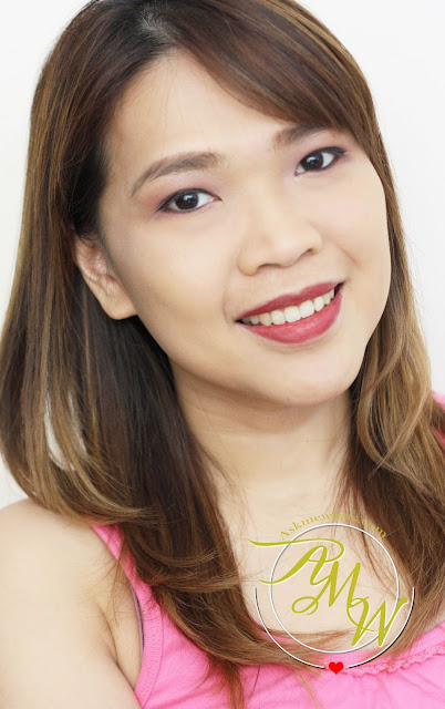 a photo of askmewhats nikki tiu wearing L'Oreal Infallible Never Fail Lipliner in Red/Wine Review