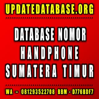 Jual Database Nomor Handphone Sumatera Timur