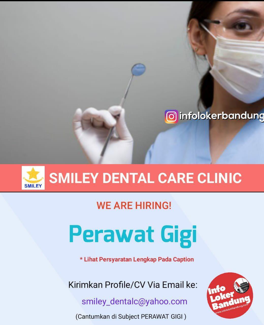 Lowongan Kerja Perawat Gigi Smiley Dental Care Bandung Januari 2019