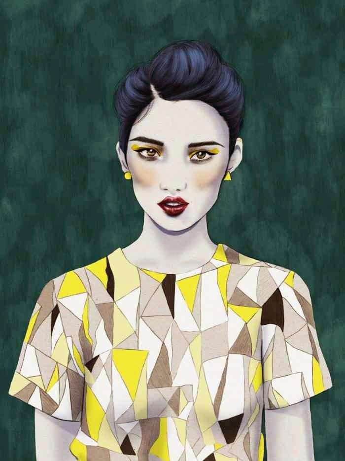 Женский стиль иллюстрации. Kelly Thompson