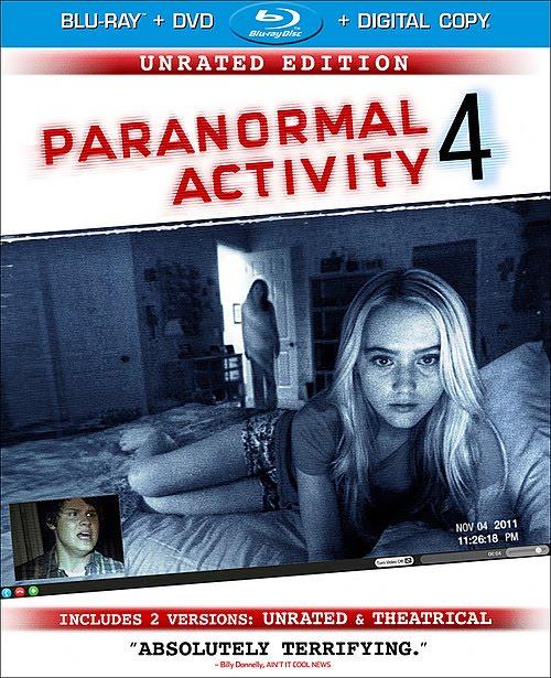 DVD & Blu-Ray: PARANORMAL ACTIVITY 4, SEVEN PSYCHOPATHS