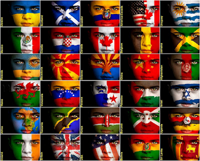 Faces in Flags.