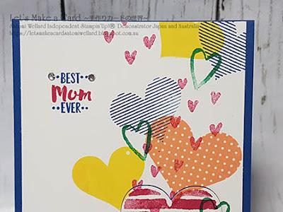Retiring set Heart Happiness Mother's  Day Card Satomi Wellard-Independent Stampin'Up! Demonstrator in Japan and Australia, #su, #stampinup, #cardmaking, #papercrafting, #rubberstamping, #stampinuponlineorder, #craftonlinestore, #papercrafting, #handmadegreetingcard, #greetingcards  #retiringset   #hearthappiness #スタンピン #スタンピンアップ #スタンピンアップ公認デモンストレーター #ウェラード里美 #手作りカード #スタンプ #カードメーキング #ペーパークラフト #スクラップブッキング #ハンドメイド #オンラインクラス #スタンピンアップオンラインオーダー #スタンピンアップオンラインショップ #動画 #フェイスブックライブワークショップ #リタイヤ製品 #ハートハピネス