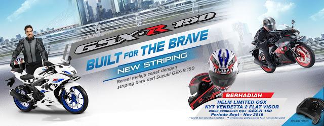 Beli Suzuki GSX-R 150 Berhadiah helm KYT