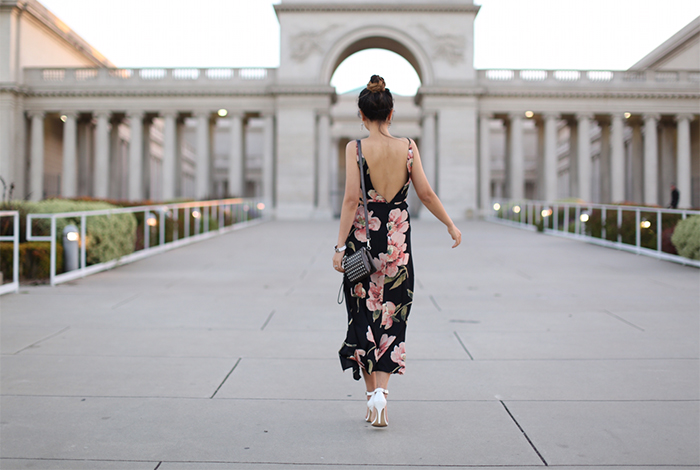 Topshop cutout floral maxi dress, karen walker super duper sunglasses, Charming charlie cross body wristlet, kendra scott earrings, hermes bracelet, ankle strap sandals, summer essential, floral maxi dress, san francisco street style