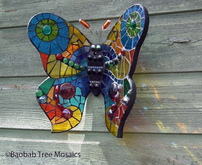 Baobab Tree Mosaics large butterfly