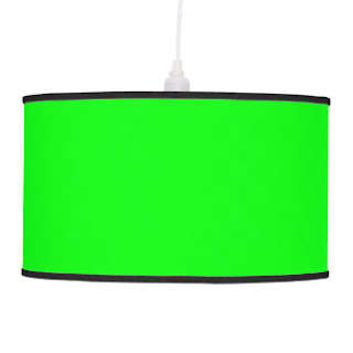 Green pendant lamp