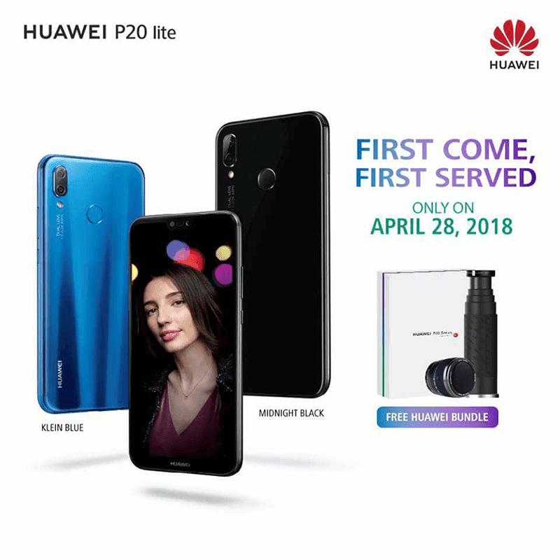 Huawei P20 lite will come with a limited edition Bluetooth speaker and tumbler for FREE on April 28!