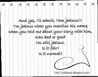 Catatan Hati: Siapa nama kamu? Oh. cemburu.