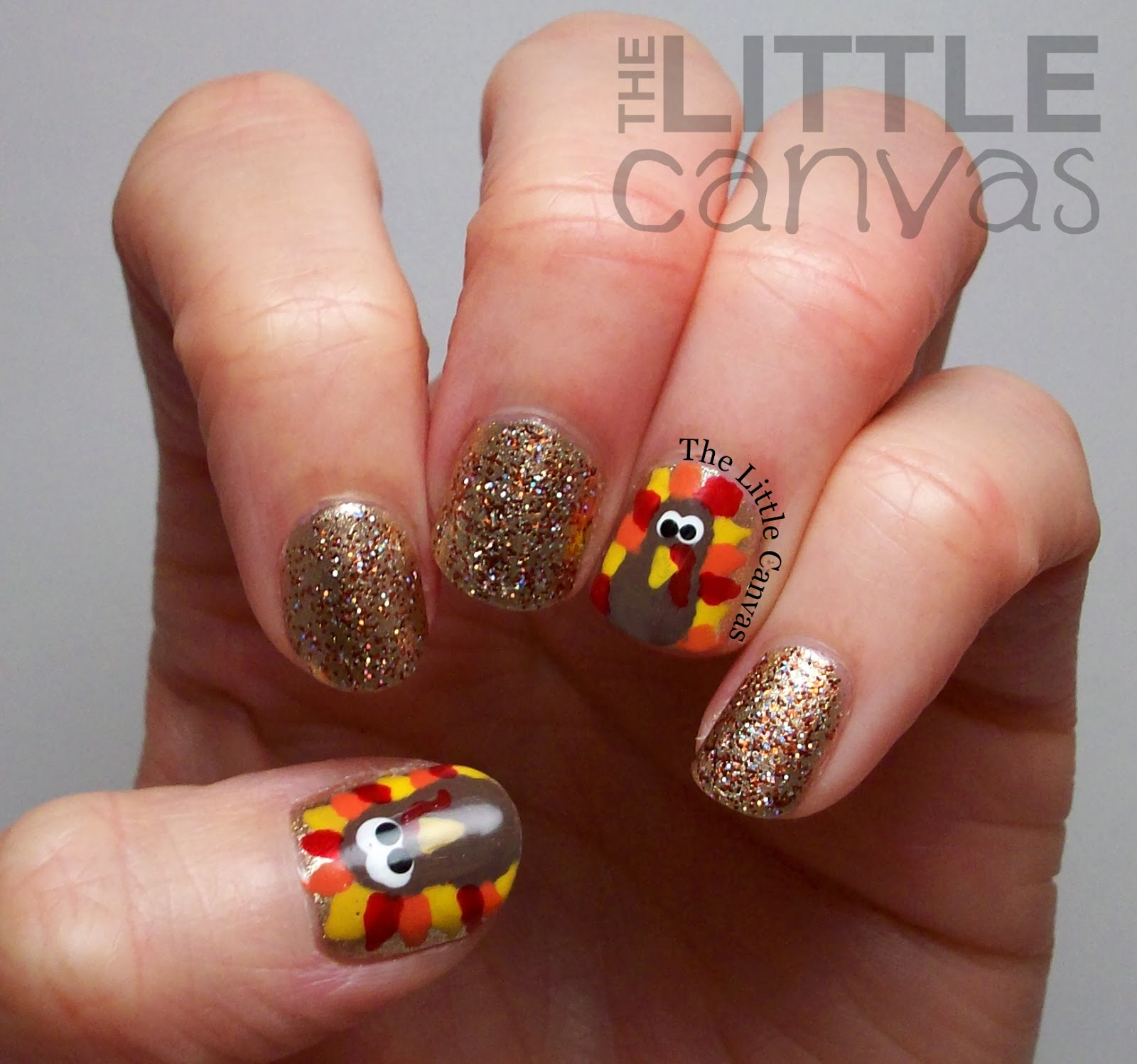Happy Thanksgiving Turkey Nails The Little Canvas