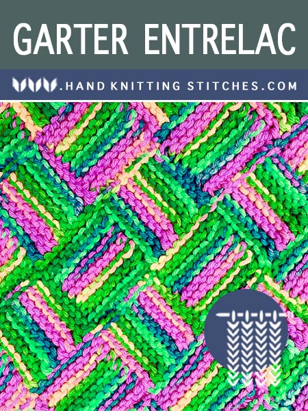 Hand Knitting Stitches - Garter Entrelac Pattern #knittingpatterns