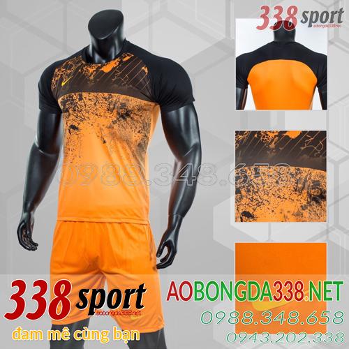 Áo Bóng Đá Không Logo Đẹp Nike Roter Cam