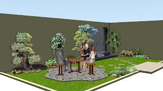 desain taman surabaya | desain taman halaman belakang | www.jasataman.co.id