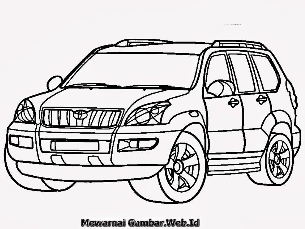 Mewarnai Gambar Mobil Toyota