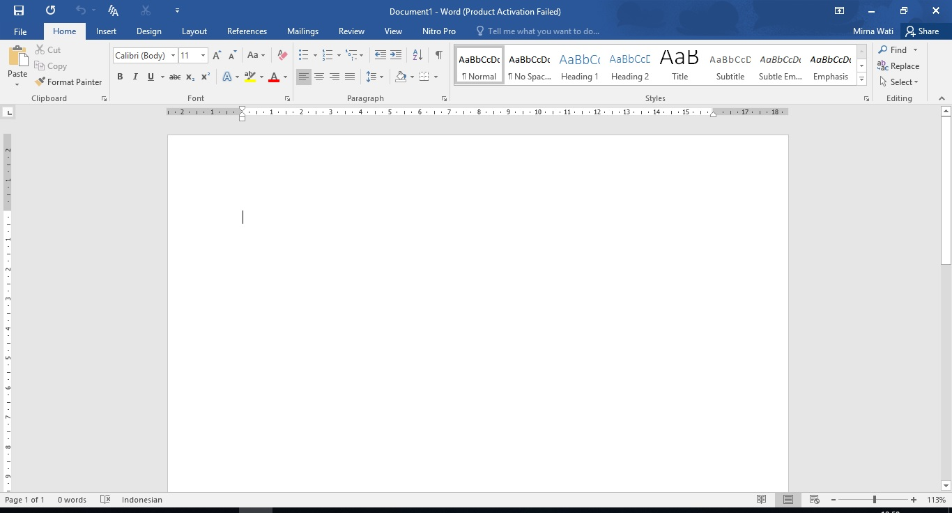 Tab File Microsoft Office Word 2016 Punya Info